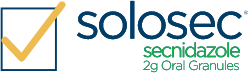 yellow check solosec secnidazole logo